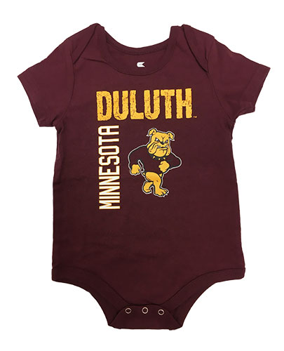 Image For Infant Minnesota Duluth Standing Bulldog Onesie by Colosseum