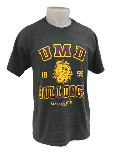 Cover Image For 2018 UMD Bulldogs Make-A-Wish Tee by Jerzees
