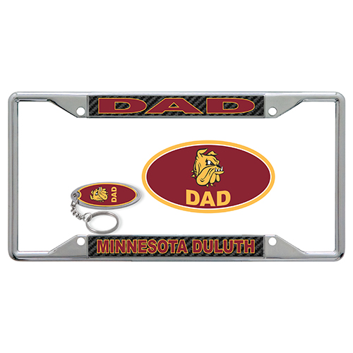 Image For Minnesota Duluth Dad License Plate Combo Kit