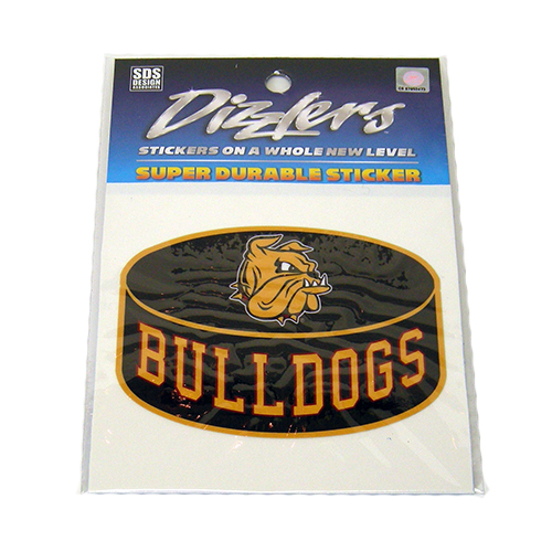 "Image For Bulldogs Puck Dizzler Sticker 3.5"" by SDS"