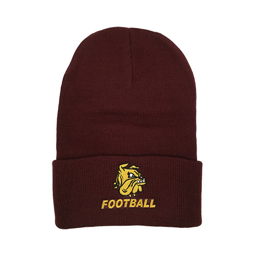 Image For Football Bulldog Head Cuff Beanie by Logofit