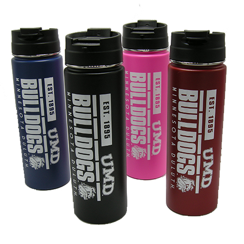 Image For Bulldogs h2go Stainless Steel Insulated Water Bottle