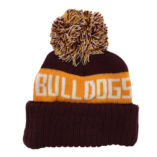 Image For Infant Bulldogs Pompom Hat by Logofit