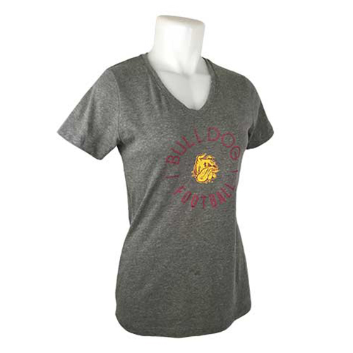 Image For Women's Bulldog Football V-Neck Tee by Gear