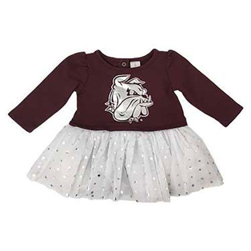Image For Infant Bulldog Tulle Onesie Dress by Colosseum