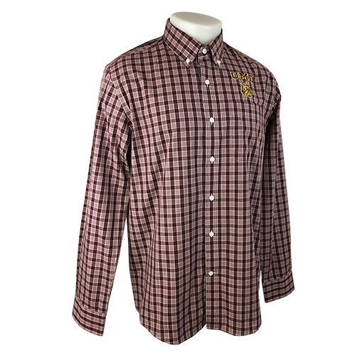 Image For Plaid Long Sleeve Easy Care Button Up by Cutter and Buck