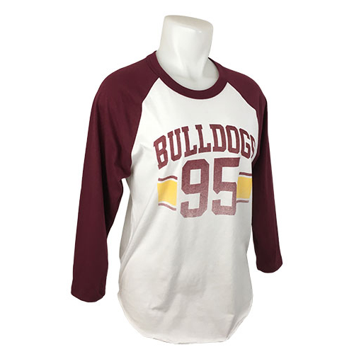 Image For Women's Bulldogs '95 3/4 Sleeve Tee by Blue 84