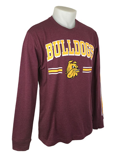 Image For Bulldogs Stripe Long Sleeve Tee by Colosseum