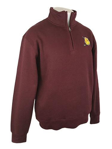 Image For Bulldog Head Hockey Sticks 1/4 Zip Sweatshirt by Gear