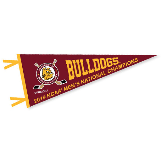 Image For 2019 NCAA Hockey National Champs Bulldogs Pennant
