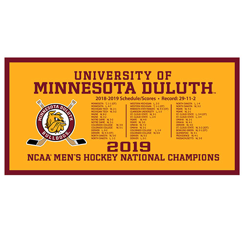 Image For 2019 NCAA Hockey National Champions Schedule Banner