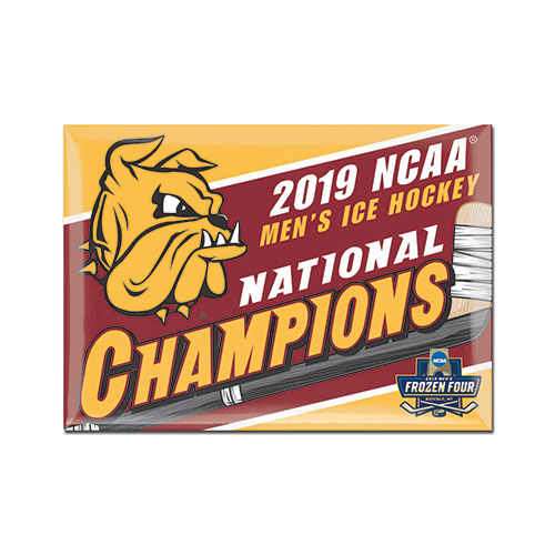 Image For 2019 NCAA Hockey National Champions Rectangle Fridge Magnet