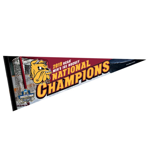 Image For 2019 NCAA Hockey National Champions Full-Color Pennant