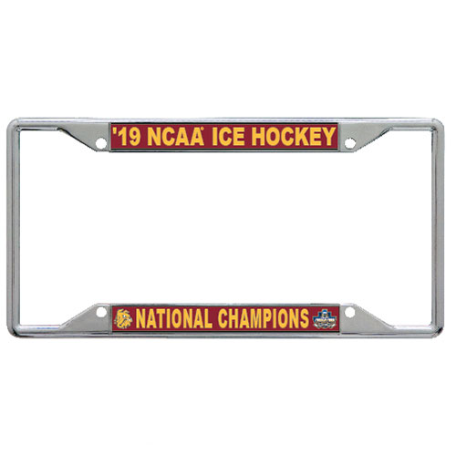 Image For 2019 NCAA Hockey National Champions License Plate Frame