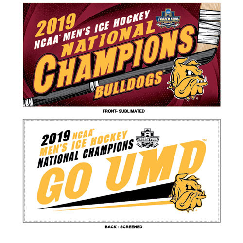 Image For 2019 NCAA Hockey National Champions On Ice Locker Room Towel