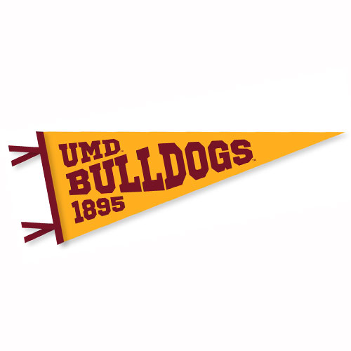 Image For UMD Bulldogs 1895 Pennant 9x24 by Collegiate Pacific