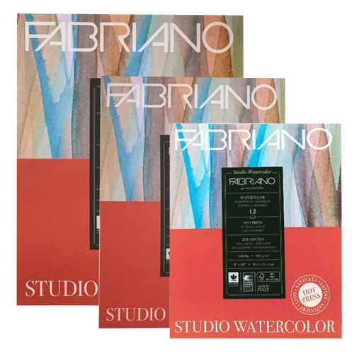 Image For Fabriano Studio Hot Press Watercolor Pad - Multiple Sizes