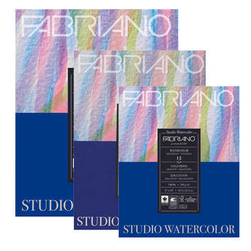 Image For Fabriano Studio Cold Press Watercolor Pad - Multiple Sizes