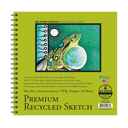 Cover Image For Bee Paper Company Premium Recycled Sketch Paper 9x9