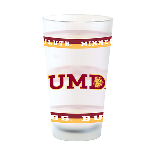 Image For UMD Minnesota Duluth Bulldogs Frosted Pint Glass by Spirit