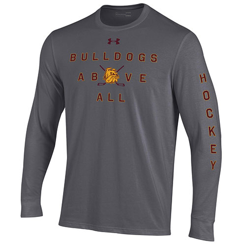 Image For Bulldogs Above All Hockey Long Sleeve Tee by Under Armour