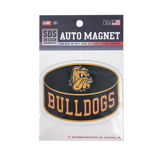 "Image For Bulldogs Hockey Puck Auto Magnet 3"" by SDS"