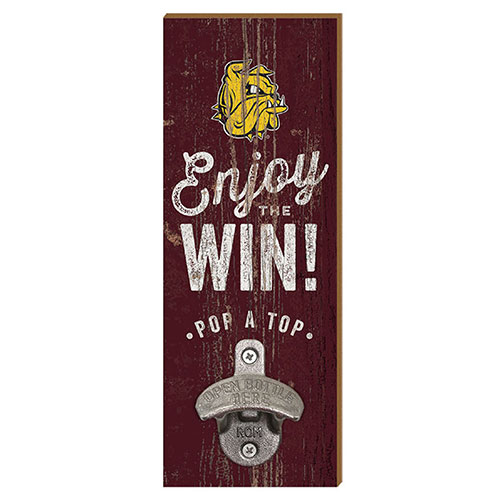 Image For Bulldogs Enjoy The Win Wall Mounted Bottle Opener by Legacy