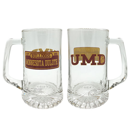 Image For UMD Bulldogs Minnesota Duluth Glass Stein by RFSJ