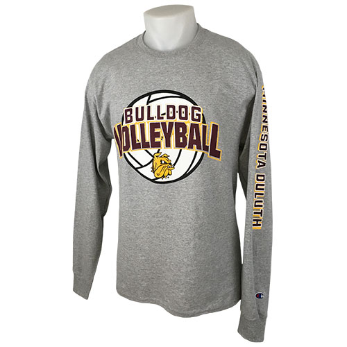 Image For Bulldog Volleyball Long Sleeve Tee by Champion