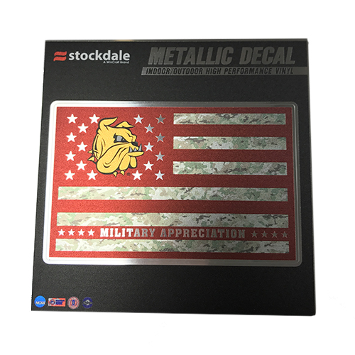 Image For UMD Military Appreciation Metallic Decal