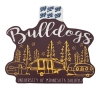 """Cover Image for UMD Bulldog Head 1895 4"""" Vinyl Sticker Decal by Blue 84"""