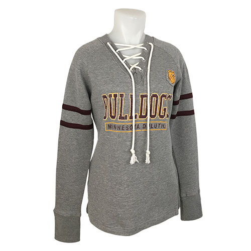 Image For Women's Bulldogs Lace Up Sweatshirt by Champion