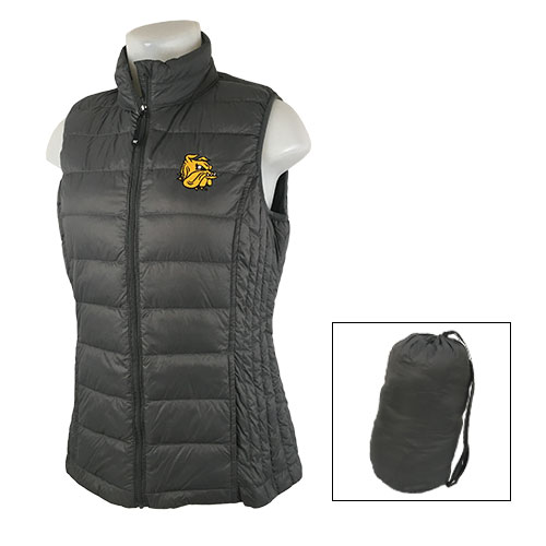 Image For Women's Bulldog Head Packable Down Vest by MV Sport
