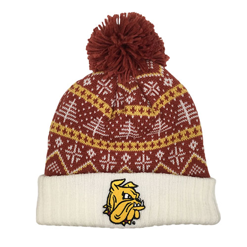 Image For Bulldog Head Festive Pompom Hat by CCM