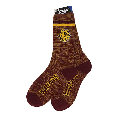 Image For Bulldog Head Bulldogs Socks by FBF