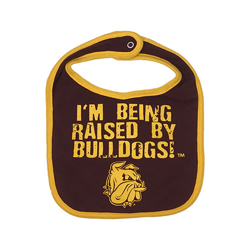Image For Infant I'm Being Raised by Bulldogs Bib by Third Street