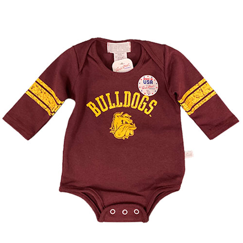 Image For Infant Bulldogs Long Sleeve Onesie by Third Street