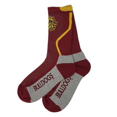 Image For Bulldog Head Multi-Knit Socks by FBF