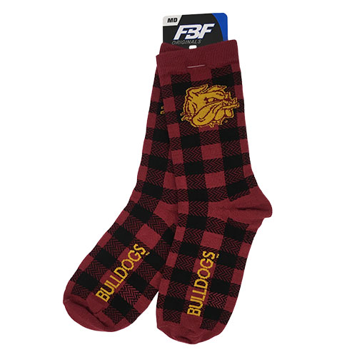 Cover Image For Bulldogs Buffalo Check Socks by FBF