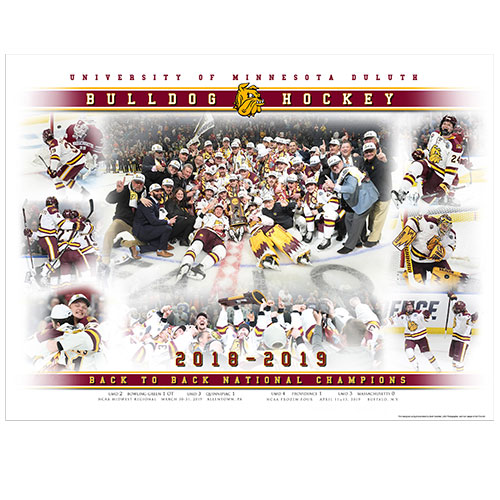 Image For 2019 UMD National Champions Hockey Print by Karl Jaeger