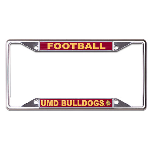Image For UMD Bulldogs Football License Plate Frame