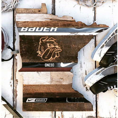 Image For *Hockey State Plaque by Great Lakes Hockey - 24""