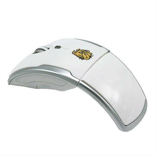 Image For UMD Bulldogs Folding Wireless Mouse - White
