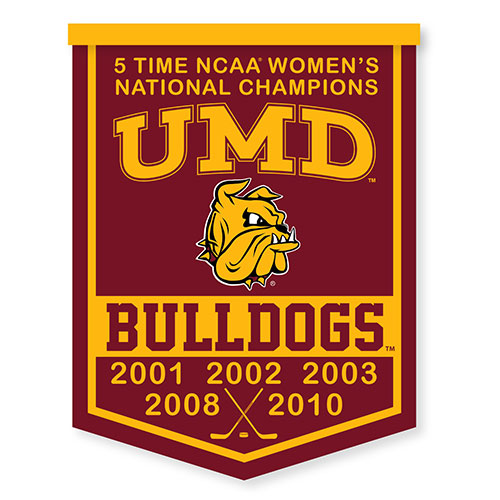 Image For Women's Hockey 5x National Champions Rafter Banner