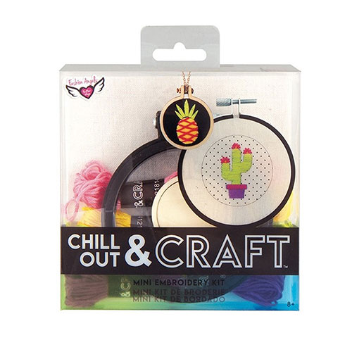 Image For Chill Out and Craft Mini Embroidery Kit by Fashion Angels