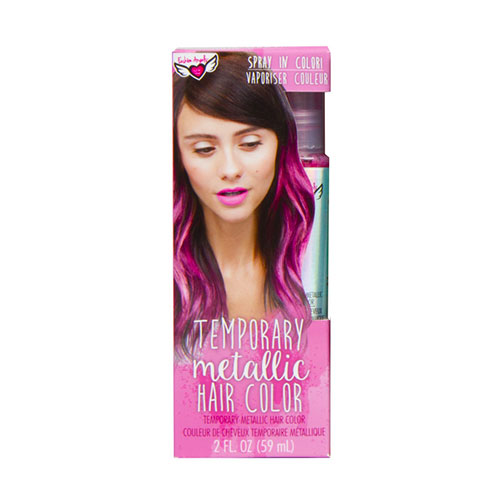 Cover Image For Pink Temporary Metallic Hair Color by Fashion Angels