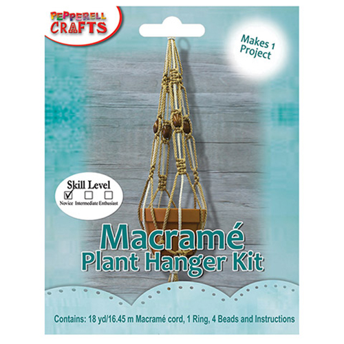 Image For Macramé Plant Hanger Kit by Pepperell Crafts