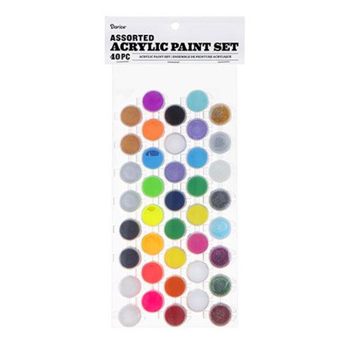 Image For Acrylic Paint 40 Pot Set by Darice