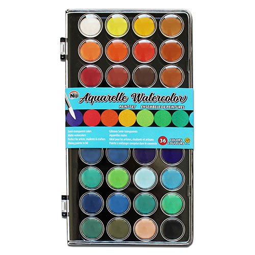 Image For Aquarelle Watercolor 36 Color Set by Niji