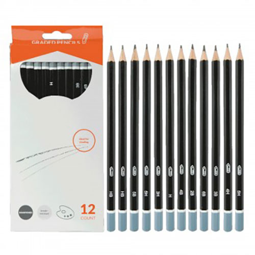 Image For Graphite Drawing Pencil Set - 12 Pieces